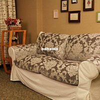 Perfect Fashion Sofa Cushion Cover Slip Resistant Leather Sofa Mat Customize Sofa  Cover Sofa Towel European Style Grey