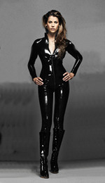 Wholesale Xxl Jumpsuit Women - New Sexy PVC Punk CATSUIT CATWOMAN Hen Party Fancy Dress COSTUME Catsuit Jumpsuit 7006