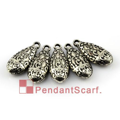 50PCS/LOT New Fashion DIY Jewellery Necklace Scarf Pendant Gun Black Plated Plastic CCB Water Drop Shape Accessories, Free Shipping, AC0073B