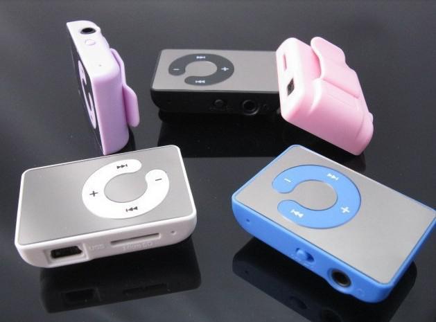 Heißer Verkauf Spiegel Clip MP3 Player Unterstützung TF MicroSD Karte Mit Kopfhörer USB Kabel Box 6 farben 12 #