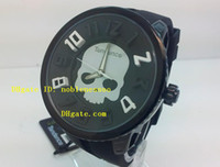 Wholesale Dlc Pvd - New Style AAA Top Quality Mens Tendence Black Dial Quartz Chronograph All Black Dlc Pvd Rubber Bands Wristwatch Mens Watch Men's Watches
