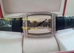 Wholesale Wrist Watch Transparent - luxury Men's watches Cup Golden Bridge with diamond Leather strap Automatic Transparent Movement Mechanical Mens Wrist Watch