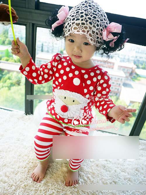2019 Autumn Toddler Christmas Pajamas Infant Baby Red