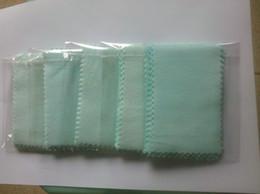 Wholesale Platinum Cloth - 100PCS lot Jewelry Polish Cloth Cleaner For Silver Platinum