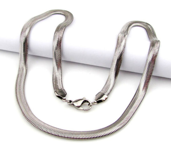 Wholesale\Retail! 55cm*6mm 16.5g Fashion Stainless Steel Silver Flat Snake Chains Neklace For Men/Boy, Lowest Price Best Quality