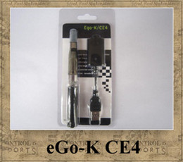 Wholesale Ego Ce4 Ce5 Blister Packs - Ego-K CE4 ego starter kit blister pack electronic cigarette 650mah ego-t battery colourful smokevapors CE4 CE5 CE6 vapore atomizer tank