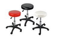 Wholesale Pvc Leather Rolls - New Top quality Hydraulic Adjustable Swivel Rolling Stool Facial Tattoo PVC Leather hair spa salon Massage chair
