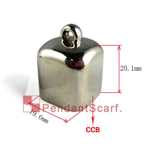 Hot Fashion New Design DIY Necklace Jewellery Scarf Findings Plastic CCB Charm Square Bead Caps Accessories, AC0038