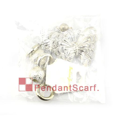 Top Fashion DIY Necklace Jewellery Scarf Accessories Mental Alloy Rhinestone Butterfly Charm Pendant Set, AC0066