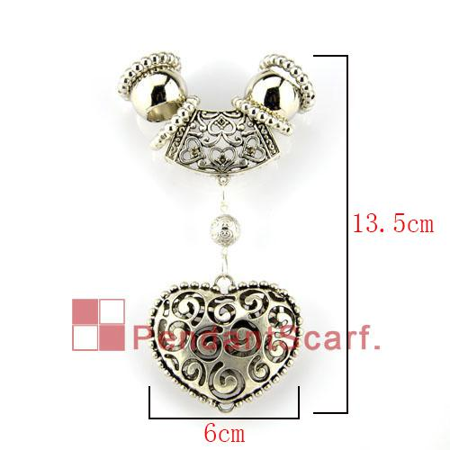Hot Fashion DIY Necklace Jewellery Scarf Accessories New Style Mental Alloy Charm Heart Pendant Set, AC0061