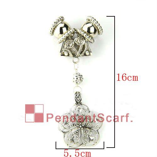 / neues Entwurfs-Oberseiten-Art und Weise DIY Schmucksache-Halsketten-Schal-Zusätze Geistesaluminiumcharme-Blumen-Anhänger-Satz, freies Verschiffen, AC0068