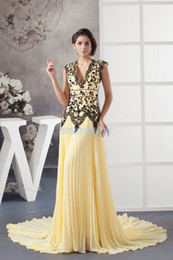 $enCountryForm.capitalKeyWord NZ - free shipping 2018 new design custom size color maid of honor dress evening gown black appliques yellow plus size evening dress