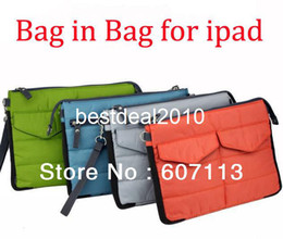 Wholesale Ipad Purse Women - 10pcs For iPad Bag in Bag Organizer Inner Bags Binder Organizer Hangbag Insert Travel tablet pouch Multifunction Purse Gadget Pockets