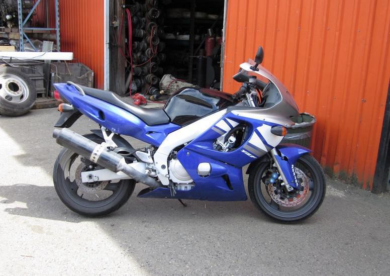 Blaue weiße schwarze ABS-Motorradverkleidungen für Yamaha yzf600 2002 2003 YZF600R Full Fouring Kits ZX01