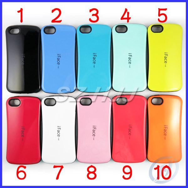 low priced 13f2c 6826d Per iPhone6 iphone 6 plus 4.7 5.5 Custodia TPU Custodia iFace per iphone 5  5G 5S 5C Custodia protettiva antiurto in acciaio stile coreano moda