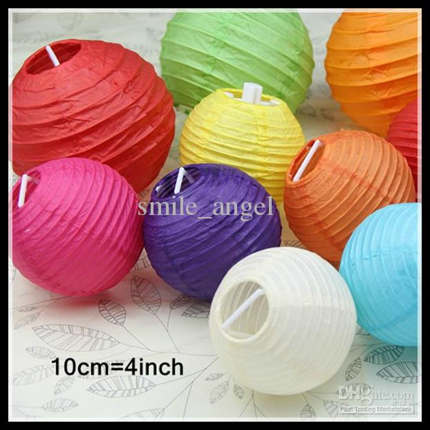 2018 2013 Lanterns 10cm 4inch Small Lantern Wedding Paper Japanese Style Lamp Cover Pendant Diy Lightings Cheap Hot Selling New From