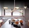 Glass Chandelier Modern Minimalist Creative Pendant Lamp Living Room Dining Room Light Dia 80cm H 60cm 10 Lights