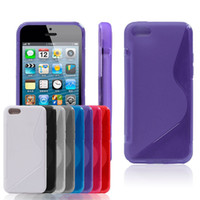 Wholesale Iphone 5c Case Lining - 10pcs lot for Apple iPhone 5C S line TPU Gel back Cover Skin case,8 colors Free shipping