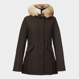 Wholesale Norway Parka Coats - Wlrich Women's Artie Parka---Brown (XS--XXL) women down coats EMS free shipping Qltrade_2 Sweden Norway Canada