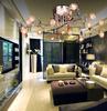 Glass K9 Crystal Chrysanthemum Ceiling Light Modern Minimalist Creative Chandelier Living Room Dining Room Light Dia 80cm H 25cm