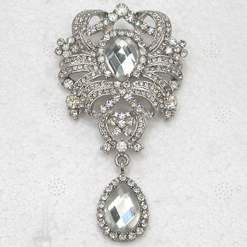 Wholesale Crystal Rhinestone Glass Gem Bridesmaid Wedding Party prom Bride Flower Pin Brooch Fashion brooches C882