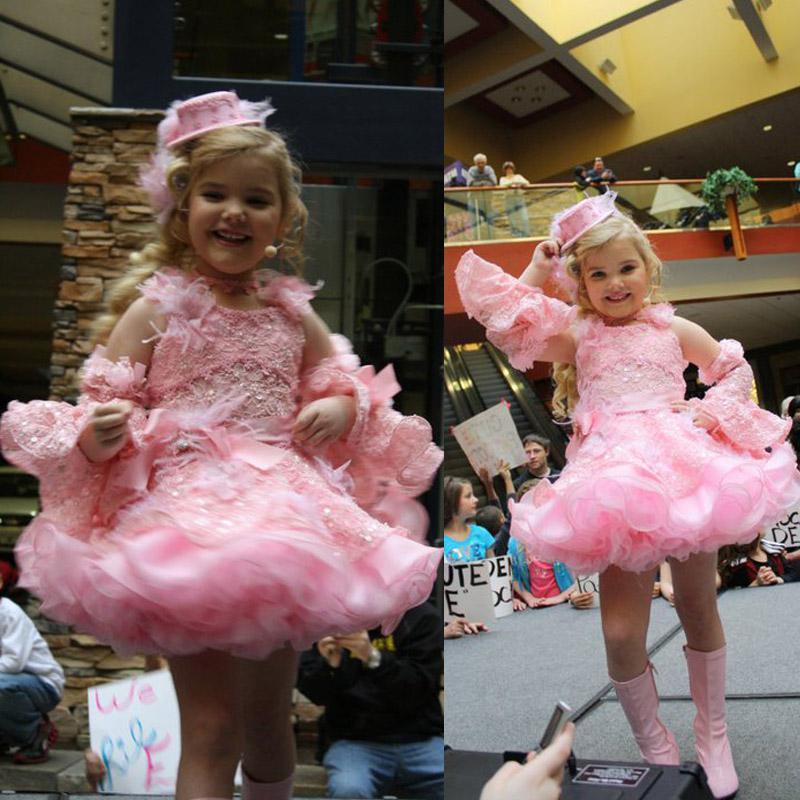 Eden Wood Pageant Dress Jewel Neckline With Detachable Sleeve ...