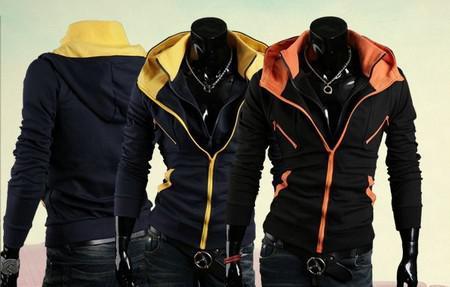 Heiße neue Winter Hoodies Mode Männer Hoodies Sweatshirts Reißverschluss Hoody Pullover lässig Hoodies Fleece Stehkragen Outwear M2