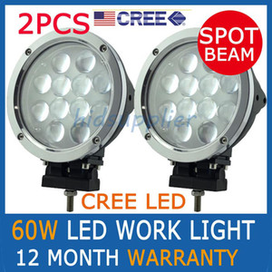 Wholesale 2pcs quot W CREE LED W Spot Driving Work Light SUV ATV WD x4 Jeep Flood Beam lm IP68 Truck Lamp KM Light Distance Pencil Euro