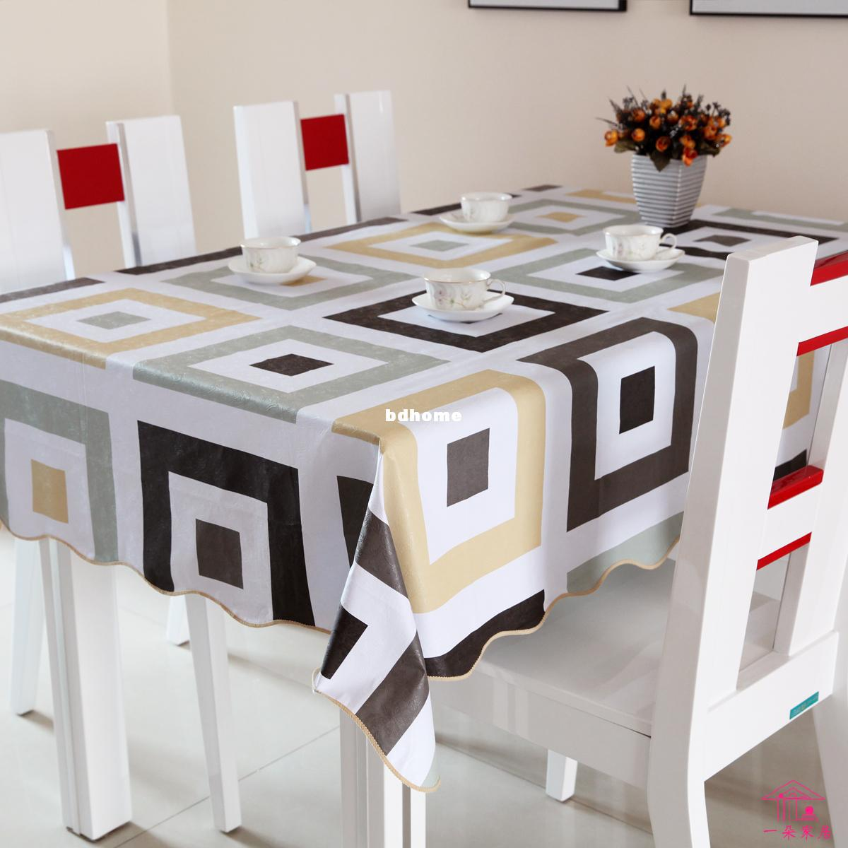 Pvc Table Cloth Plastic Disposable Waterproof Dining Table