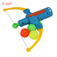 Wholesale Table Tennis Guns Bows Arrow Shape Security Shooting Toys Outdoor Sports Play Game Kids Gifts