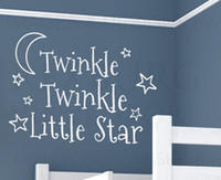 twinkle little star prices - 10pcs lotWall Decal Art Vinyl Sticker Quote Twinkle Twinkle Little Star Baby's Room