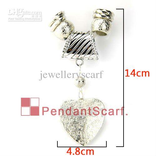 12 UNIDS / LOTE Caliente de La Manera Collar de la Joyería DIY Hallazgos de la Bufanda Nuevo Diseño Brillo Plástico CCB Encanto Corazón Colgante Conjunto, Envío Gratis, AC0067