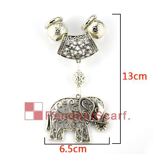 / heiße populäre DIY Halsketten-Schmuck-Schal-Zusatz-Geisteselegant-eleganter Elefant-hängender gesetzter Charme, freies Verschiffen, AC0064