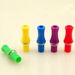 Wholesale Mouth Clearomizer - Colorful 50PCS Electronic Cigarette for Ego CE4 Clearomizer CE5 CE6 Cartomizer Atomizer Gadgets 510 Mouth Mouthpiece Drip Head Tip 8Colors