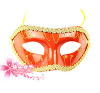 Wholesale Order Black Powder - Christmas Half face Gold Powder flower-around party masks 16colors painting halloween masquerade mask Valentine 50pcs Mix order Party Masks