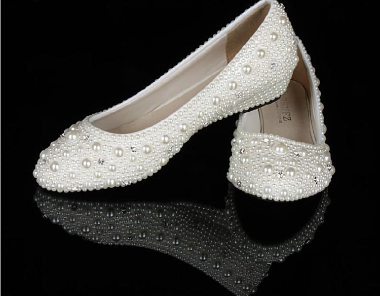 Elegant Wedge Heel Wedding Bridal Shoes Bridesmaid Skor Stor storlek 34-44 Low Heel Comfortable Lady Party Dance Prom Dress Shoes