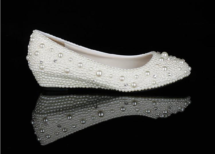 Elegante Wedge Heel Hochzeit Brautschuhe Brautjungfer Schuhe Große Größe 34-44 Niedrige Ferse Bequeme Lady Party Dance Abendkleid Schuhe