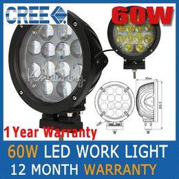 Flood light housing online shopping - 2pcs quot W CREE LED W Spot Driving Work Light SUV ATV WD x4 Jeep Flood Beam lm IP68 Truck Lamp KM Light Distance Black Housing