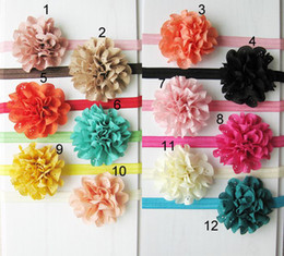 Wholesale Mesh Flowers For Headbands - Baby Headbands Girl hairbands+Handmade Cloth Flowers Hair Accessories Kids High Elastic Mesh Flower Headbands For Photography Props Newest