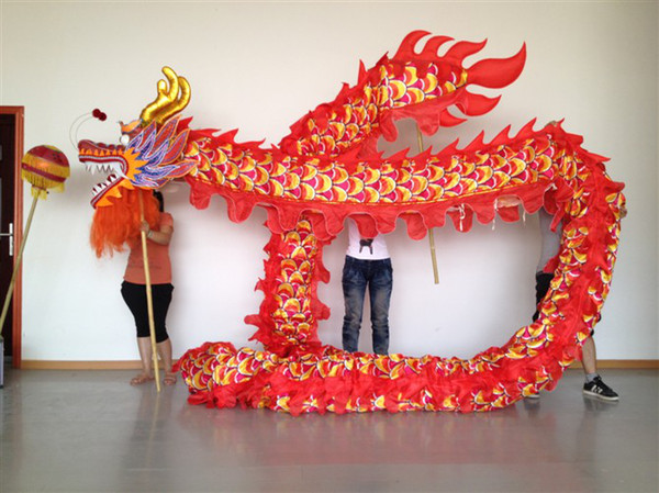 best selling Brand New Chinese Spring Day red Chinese DRAGON DANCE ORIGINAL Dragon Chinese Folk Festival Celebration Costume