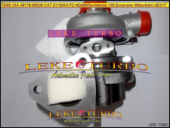 WholesaleTD05-10A 49178-00530 49178-00550 Turbo Turbocompresor para Sumitomo 120 KATO HD300 HD400 HD450 Cat E110 Excavadora Mitsubishi 4D31T