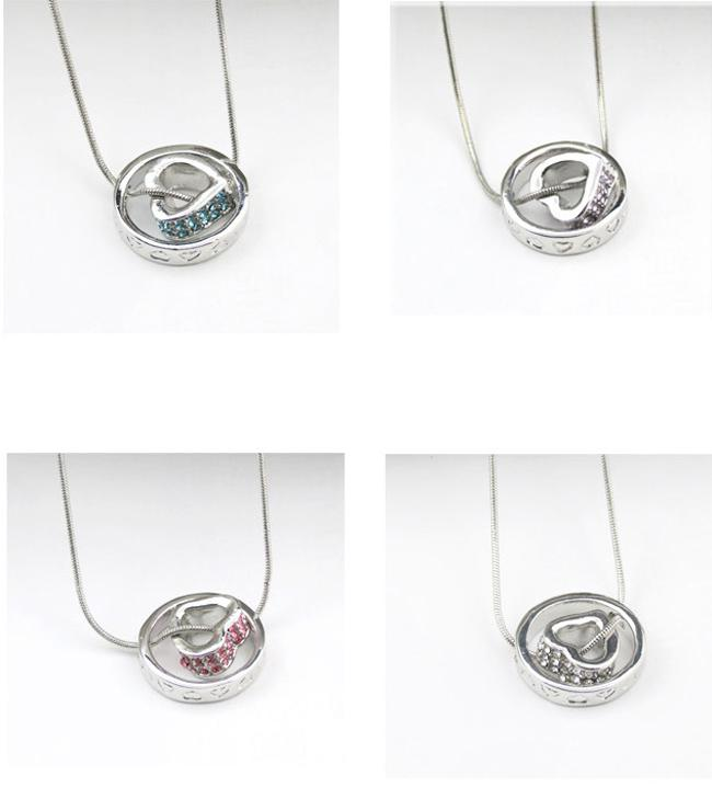 Silver Pendant Necklace Love Heart Pendant Necklace For Women Nice Gifts For Girls Rings Diamond Heart Necklace NL03