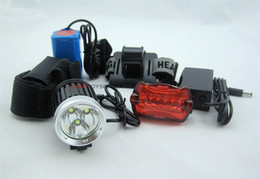 Wholesale 3x Xml T6 - Cycling Headlamp 3x CREE XML T6 LED Bicycle HeadLight bike Lamp + Tail lights Free shipping