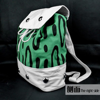 Wholesale One Piece School Bag - One piece Portgas D Ace Cosplay Green Bag Pack Sack New School Backpack