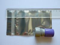 cerradura de joyería al por mayor-Envío gratis 9x16 cm 100 unids / lote zip lock válvula de aluminio antiestático transparente para la joyería electrónica de regalo