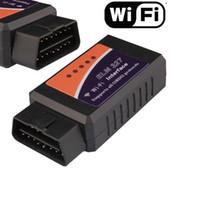 obd2 elm327 wifi para android al por mayor-Envío gratis ELM 327 WIFI ELM327 WIFI Escáner OBDII OBD2 Herramienta de diagnóstico automático Soporte teléfono y Android y Windows