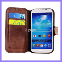 Wholesale Real Leather S4 Case Brown - Golden Phoenix Retro Wallet Case for Samsung Galaxy S3 S4 I9300 I9500 Real Leather Case for Note 2 N7100 Flip Leather Cover Cases
