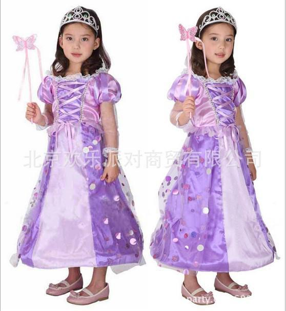 Purple Accessories Dress