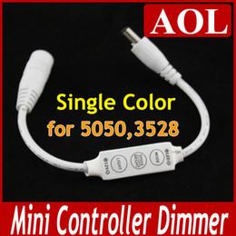 Argentina 5 unids 12 V 72 W Ultra Slim Mini Portátil de Un Solo Color Controlador de StripTape LED Dimmer 3 teclas + 2 DC enchufe para 5050 3528 SMD Luz de Tira Suministro