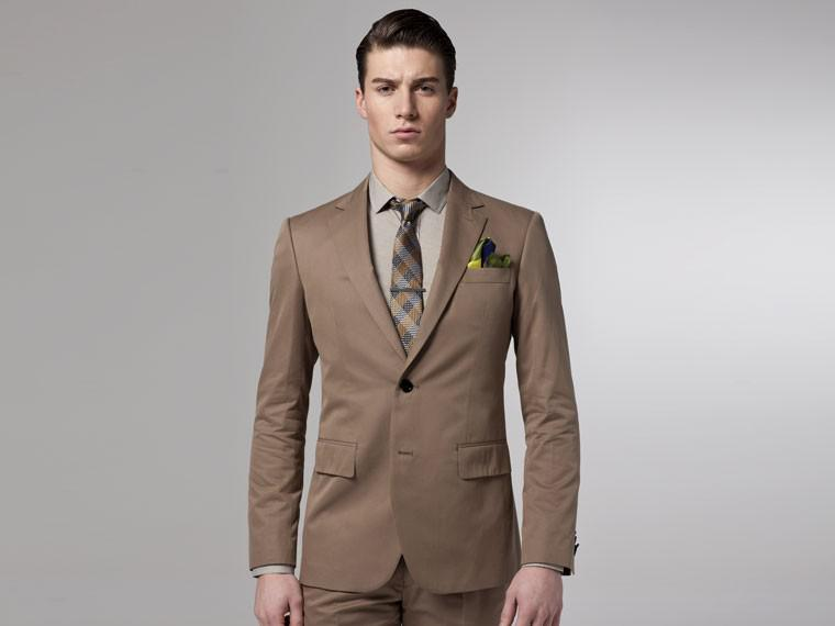 2017 Slim Fit Khaki Men Suits 2015 For Wedding Custom Made High ...